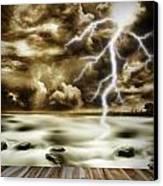 Storm Canvas Print by Les Cunliffe