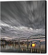 Storm Moving In Over Chattanooga Canvas Print by Steven Llorca
