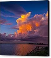 Storm On Tampa Canvas Print by Marvin Spates