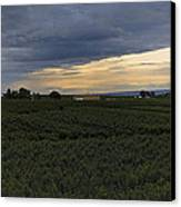 Storm Over The Yakima Valley Canvas Print by Mike  Dawson