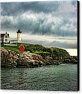 Storm Rolling In Canvas Print by Heather Applegate