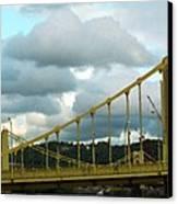Stormy Bridge Canvas Print by Frank Romeo