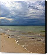 Stormy Mayflower Beach Canvas Print by Amazing Jules