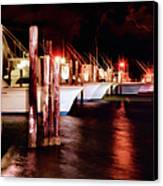 Stormy Night In The Marina - Outer Banks Canvas Print by Dan Carmichael