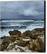 Stormy Sky And Ocean Waves Canvas Print by Julie Palencia