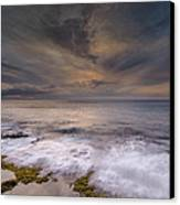 Stormy Sunset Canvas Print by Tin Lung Chao