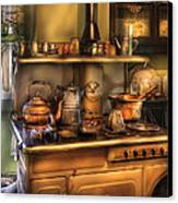 Stove - What's For Dinner Canvas Print by Mike Savad