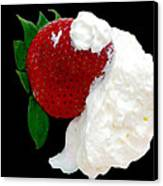 Strawberry And Cream Canvas Print by Camille Lopez