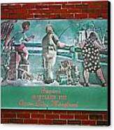 Street Ad Canvas Print by Skip Willits