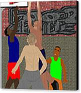 Streetball Shirts And Skins Hoopz 4 Life Canvas Print by Pharris Art