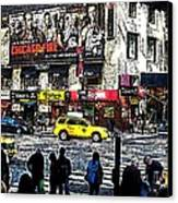 Streets Of Manhattan 20 Canvas Print by Mario Perez