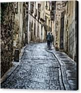 Streets Of Segovia Canvas Print by Joan Carroll