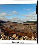 Strip Mining - Environment - Panorama - Labrador Canvas Print by Barbara Griffin
