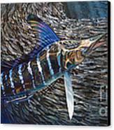 Striped Gem Canvas Print by Jason Mathias