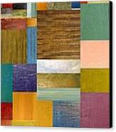 Strips And Pieces Lv Canvas Print by Michelle Calkins