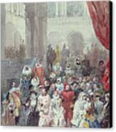 Study For A Costume Ball Given By The Princess Of Sagan Canvas Print by Eugene-Louis Lami