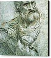 Study For An Apostle From The Last Supper Canvas Print by Leonardo da Vinci