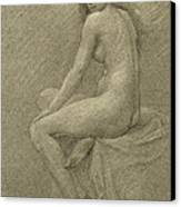 Study For Lilith Canvas Print by Robert Fowler