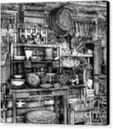Stuff For Sale Bw Canvas Print by Mel Steinhauer