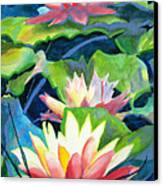 Styalized Lily Pads 3 Canvas Print by Kathy Braud