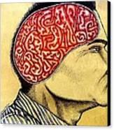 Subliminal Messages For Alienation Canvas Print by Paulo Zerbato