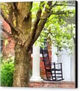Suburbs - Rocking Chair On Porch Canvas Print by Susan Savad