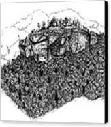 Sugar Loaf Mtn. Heber Springs Ar. Canvas Print by Lee Halbrook