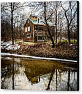 Sugar Shack In Deep River County Park Canvas Print by Paul Velgos