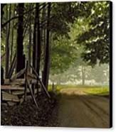 Sugarbush Road Canvas Print by Michael Swanson