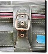 Suitcase Buckle Canvas Print by Tom Gowanlock