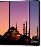 Suleymaniye Sundown Triptych 02 Canvas Print by Rick Piper Photography