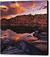 Summer Dells Sunset Canvas Print by Peter Coskun