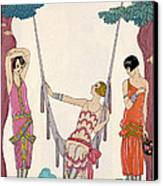 Summer Canvas Print by Georges Barbier