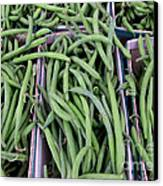 Summer Green Beans Canvas Print by Kathie McCurdy