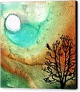 Summer Moon - Landscape Art By Sharon Cummings Canvas Print by Sharon Cummings