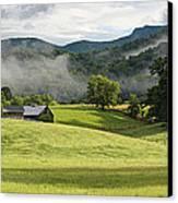 Summer Morning At Bakersville North Carolina Canvas Print by Keith Clontz