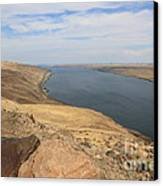 Summer On The Columbia River Canvas Print by Carol Groenen