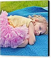 Summer Rest With Blueberries Canvas Print by Valerie Garner