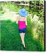 Summer Stroll In The Park - Art By Sharon Cummings Canvas Print by Sharon Cummings