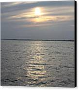 Summer Sunset Over Freeport Canvas Print by John Telfer