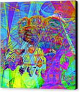 Summertime At Santa Cruz Beach Boardwalk 5d23905 Canvas Print by Wingsdomain Art and Photography