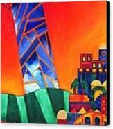 Sun City Canvas Print by Dawnstarstudios