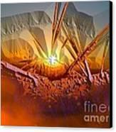 Sun Set Canvas Print by Vagik Iskandar