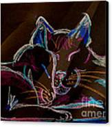 Sunbeam Cats Canvas Print by Michelle Wolff
