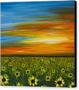 Sunflower Sunset - Flower Art By Sharon Cummings Canvas Print by Sharon Cummings