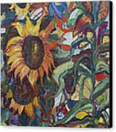 Sunflowers Canvas Print by Avonelle Kelsey