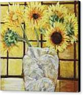 Sunflowers Canvas Print by Michael Crapser