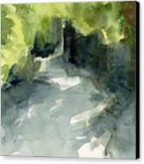Sunlight And Foliage Conservatory Garden Central Park Watercolor Painting Canvas Print by Beverly Brown