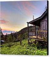 Sunrise At Mt Leconte Canvas Print by Debra and Dave Vanderlaan