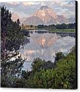Sunrise At Oxbow Bend 3 Canvas Print by Marty Koch